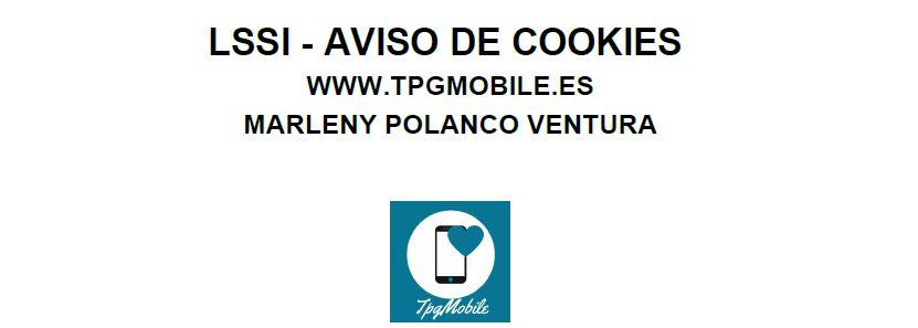 Aviso de cookies tpgmobile